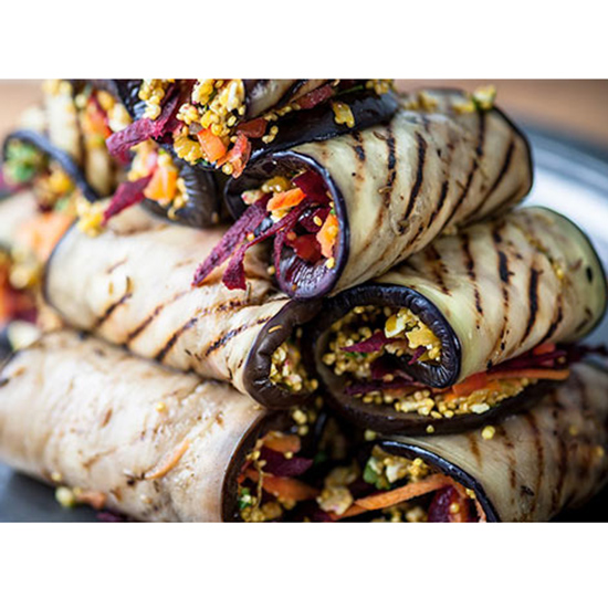 Grilled Eggplant Roll-Ups