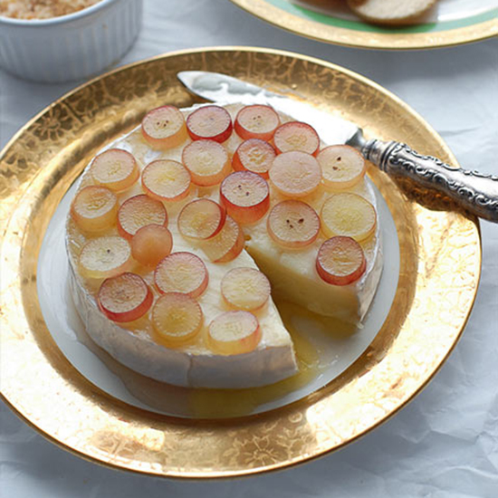 Baked Brie With Pink Champagne Jelly