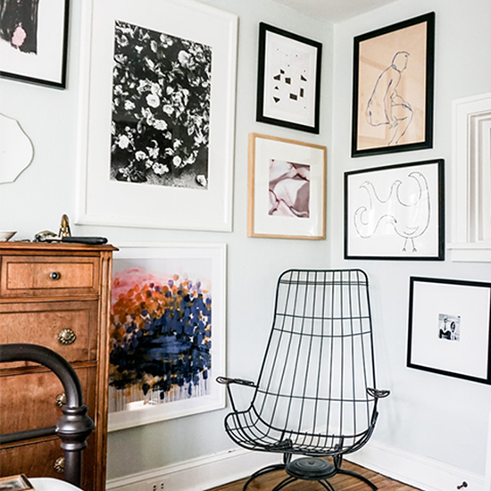 Add a Floor-to-Ceiling Gallery Wall