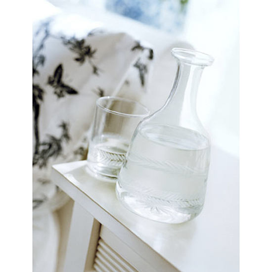 Have a Glass of Fresh Water on Your Nightstand