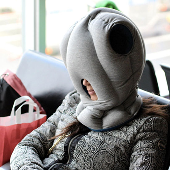 Pad Your Neck With An Ostrich Pillow