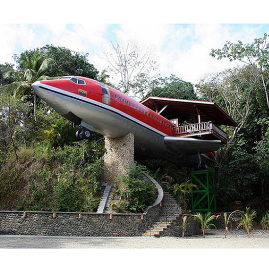 A former airplane in Costa Rica