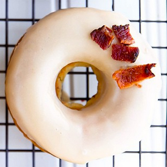 The Maple Bacon Donut at Broma Bakery