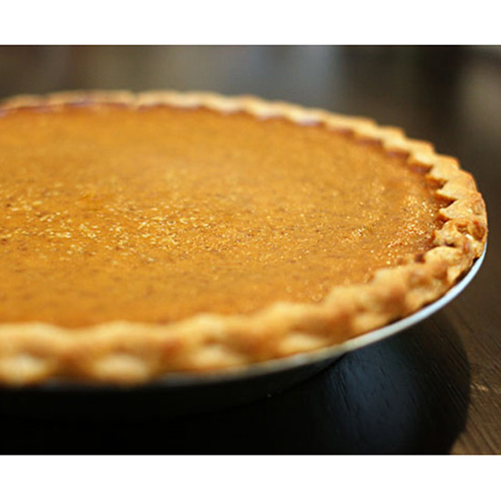 Problem: The crust of the pumpkin pie is browning too fast.