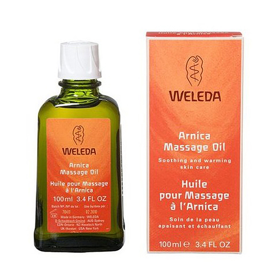 2. Soothe Sore Muscles with Arnica Massage Oil