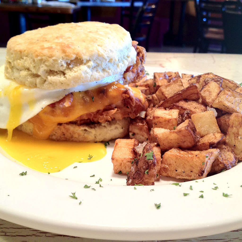 The Cathead Biscuit Sandwich; Big Bad Breakfast, Mississippi