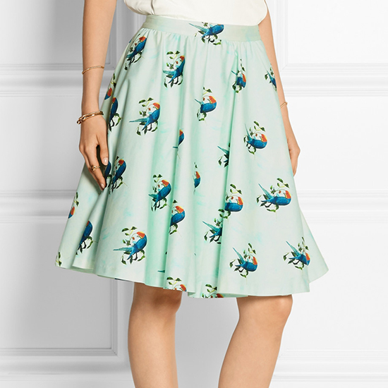 Alice + Olivia Stretch-Cotton Skirt