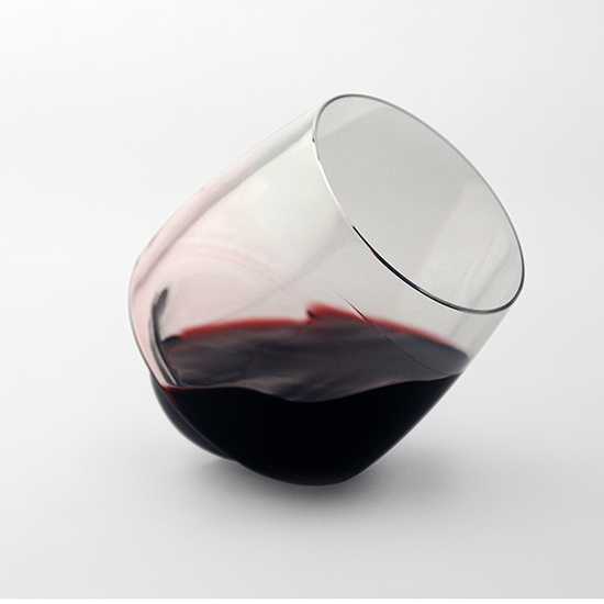FWX SPILL PROOF WINE GLASS RED
