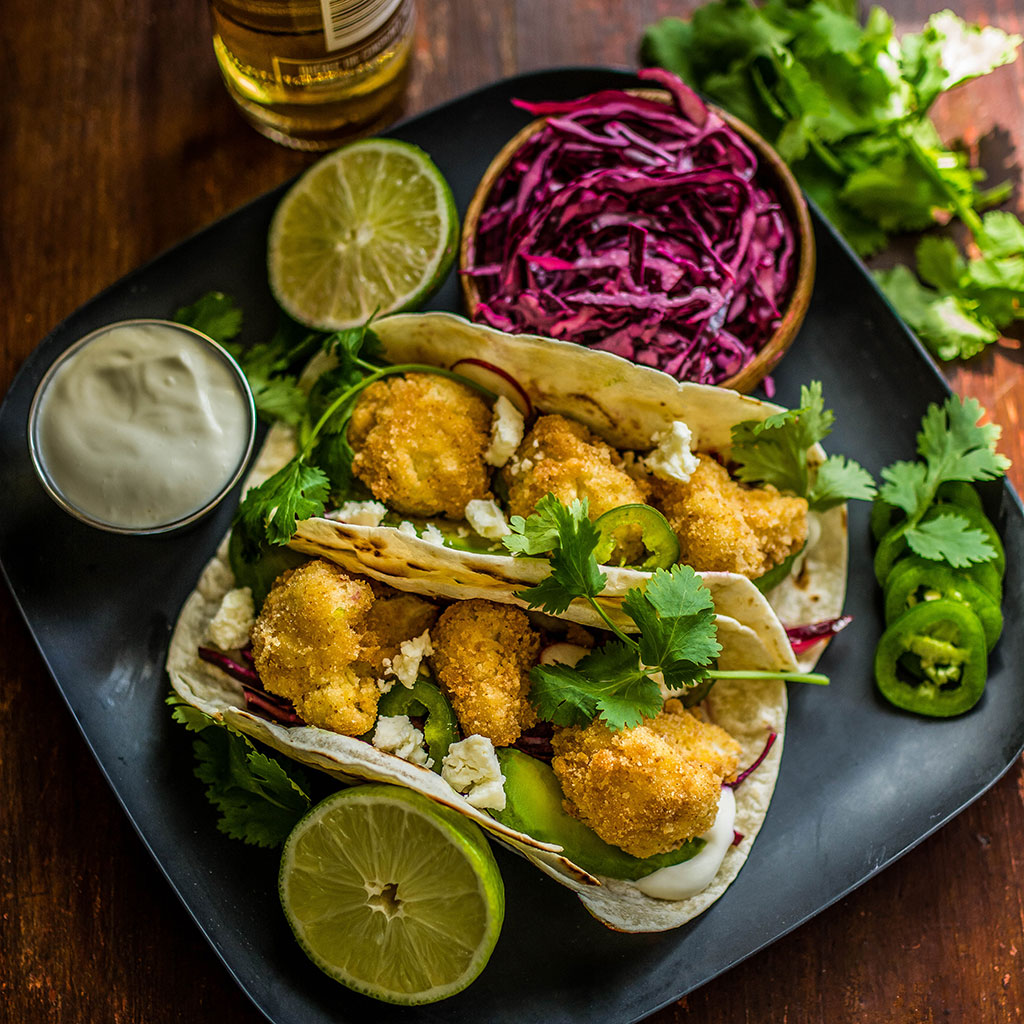FWX STACKED CAULIFLOWER TACOS