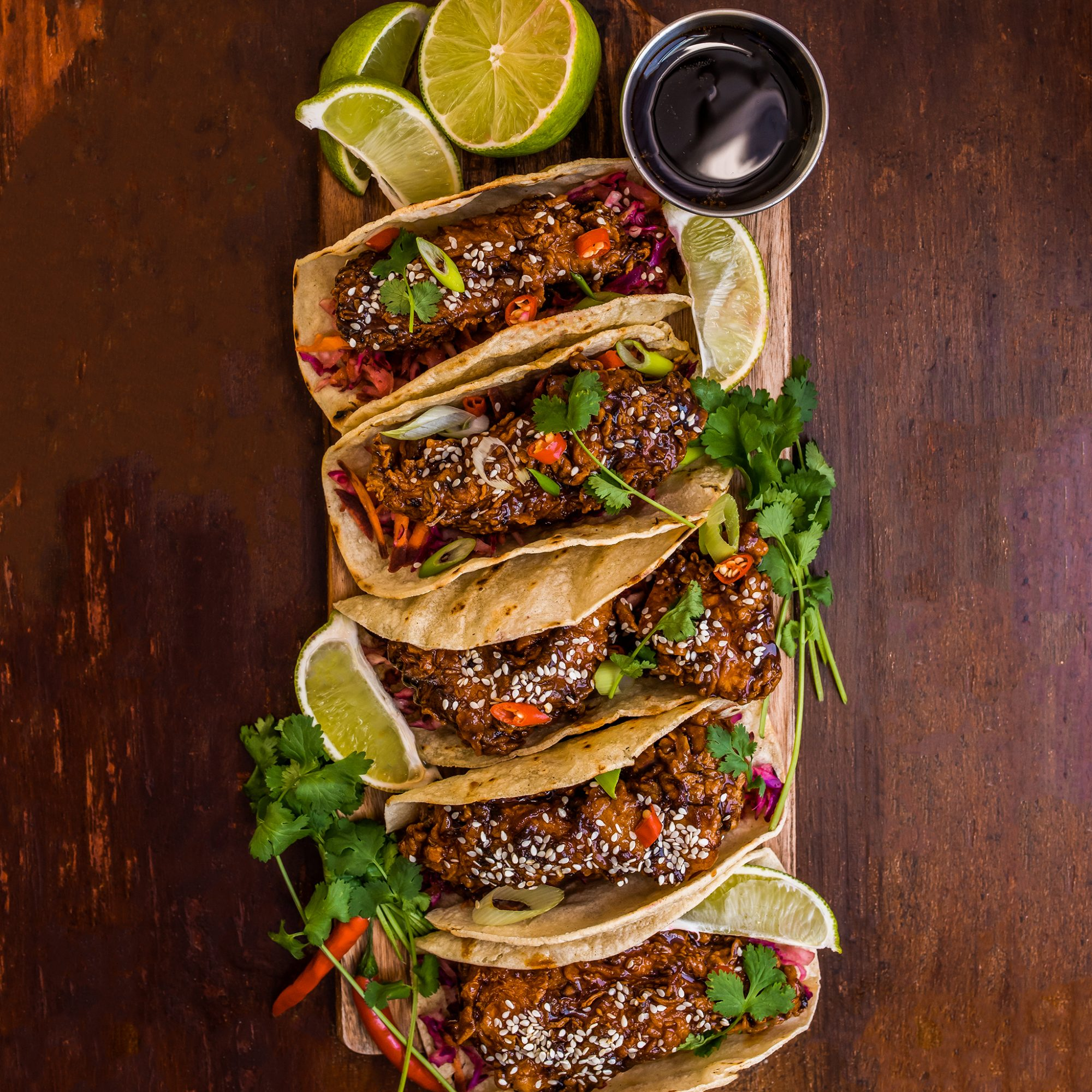 FWX STACKED GARLIC CHICKEN TACOS
