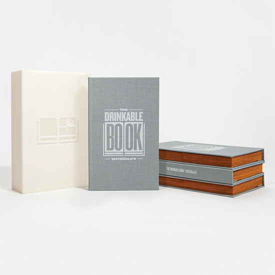 FWX WATER IS LIFE DRINKABLE BOOK