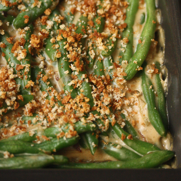 Green Bean Casserole with Caramelized Shallots