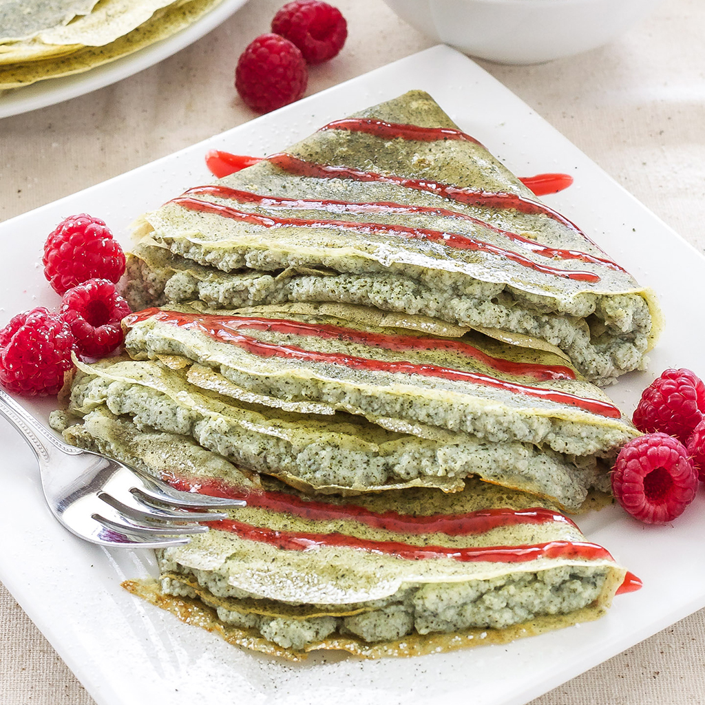 crepes, crepe recipes, green tea