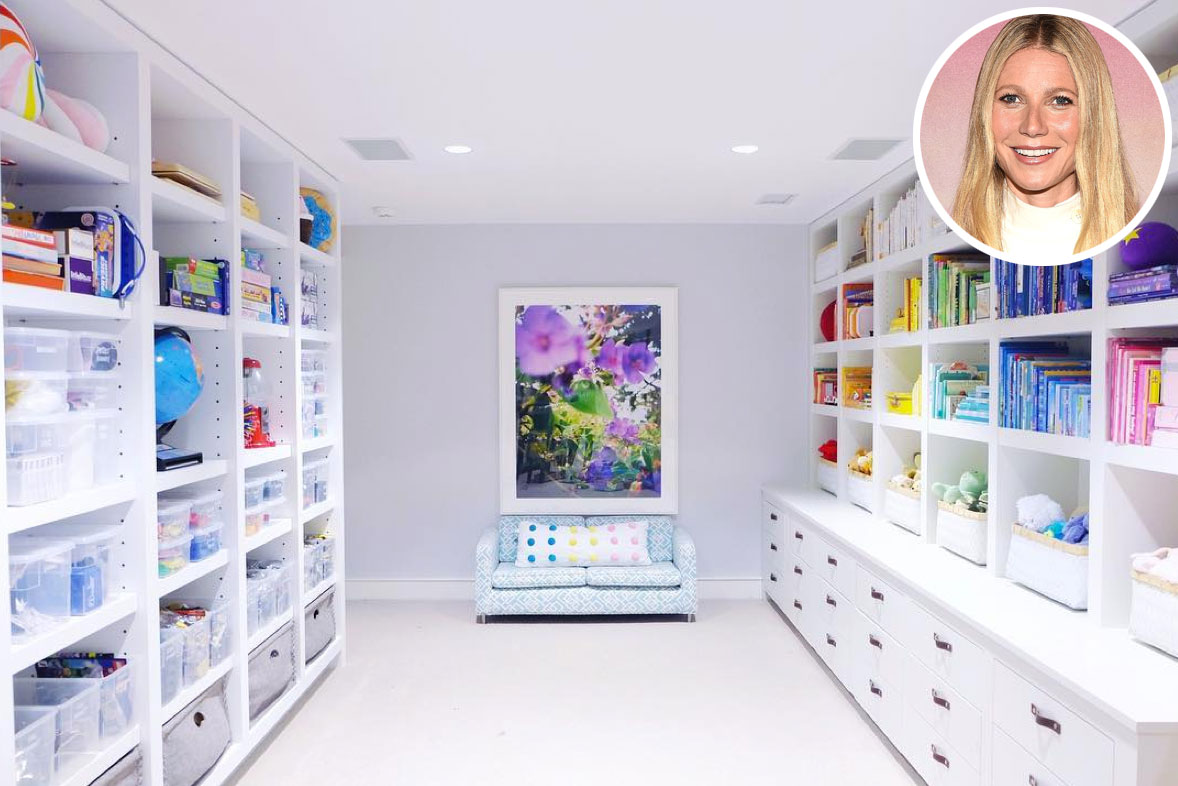 Gwyneth Paltrow's Hyper-Organized Pantry and Playroom Are Everything You Imagined and More