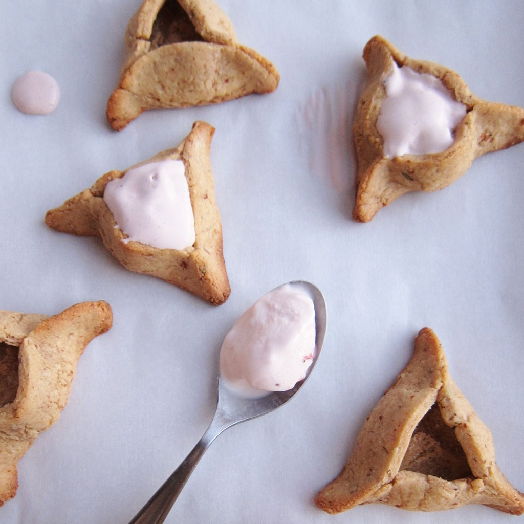 Rosemary Almond Ice Cream-Filled Hamantaschen