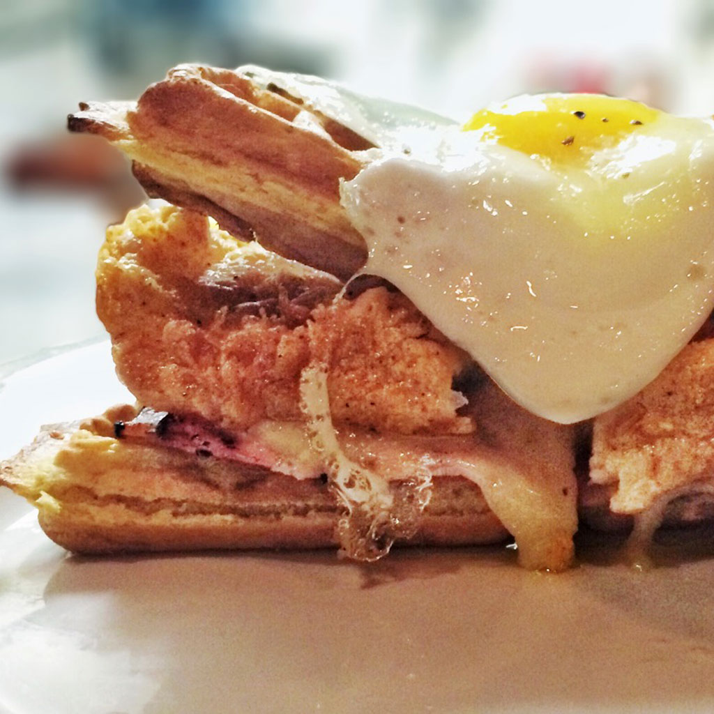 HANGOVER CURES NOLA BROWN BUTTER CHICKEN AND WAFFLE FWX