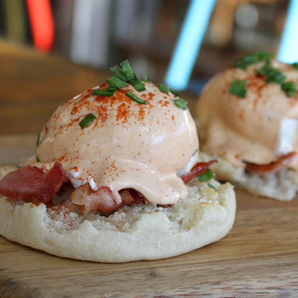 HANGOVER CURES WOODSHED BACON BENEDICT FWX