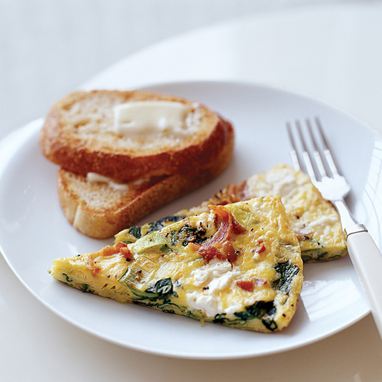 Spinach and Goat Cheese Frittata