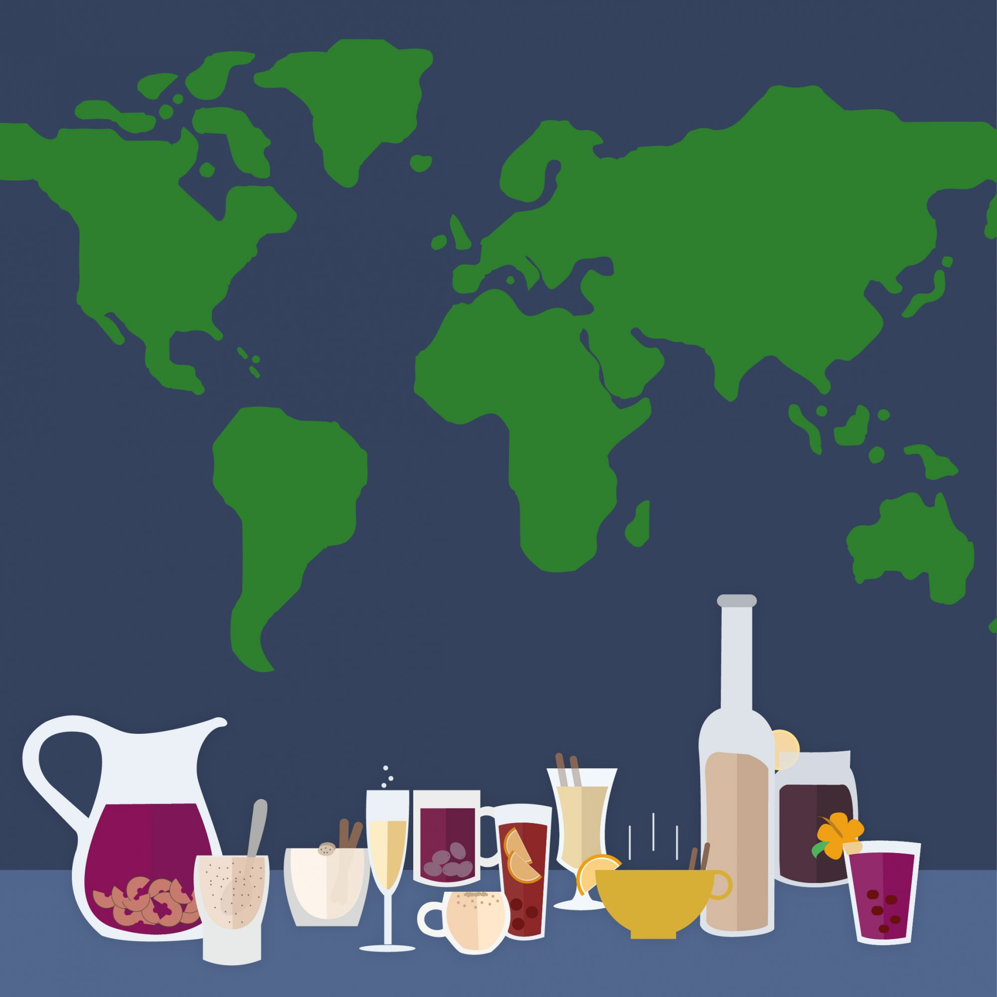 Table of International Holiday Drinks