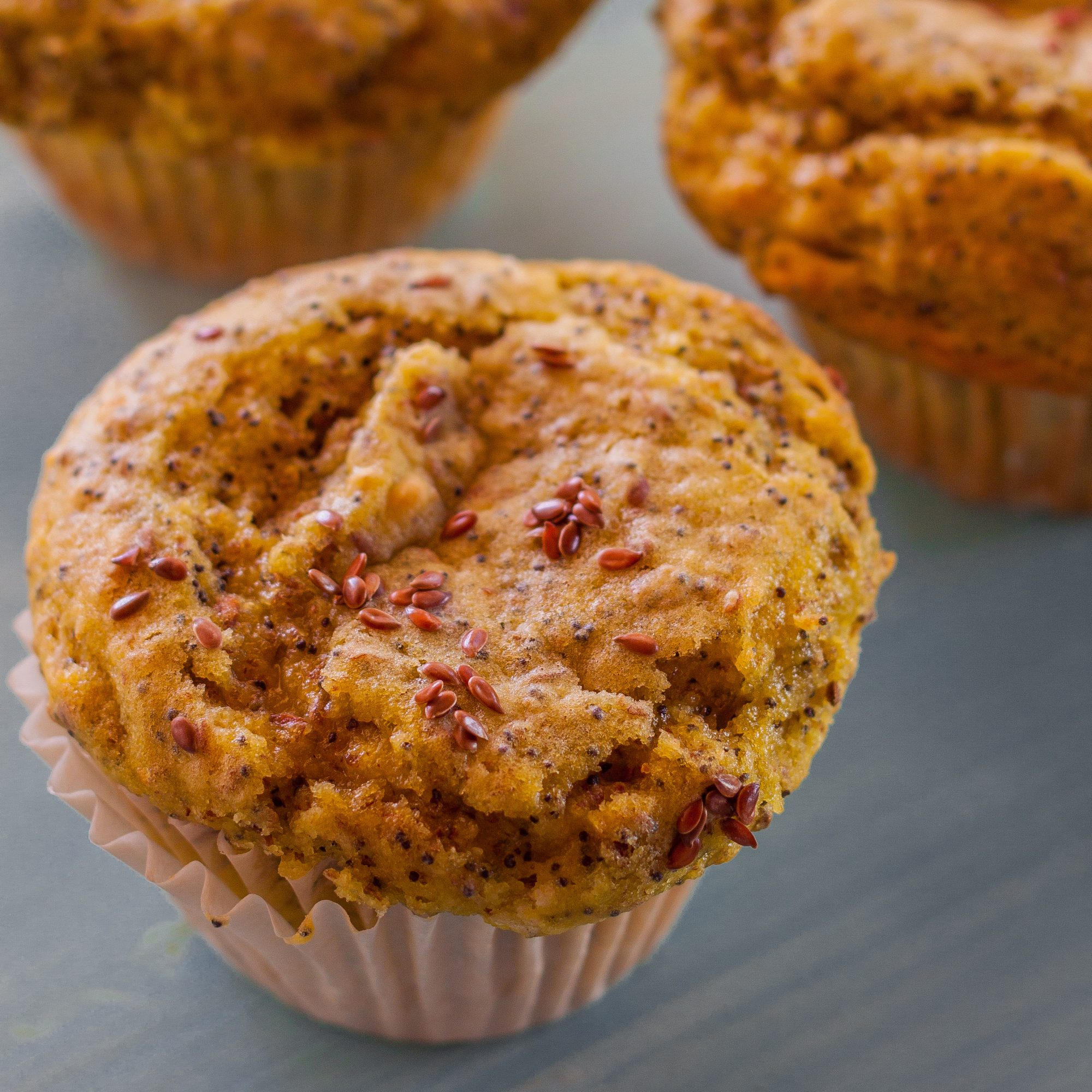Lemon-Poppy Flax Seed Muffins