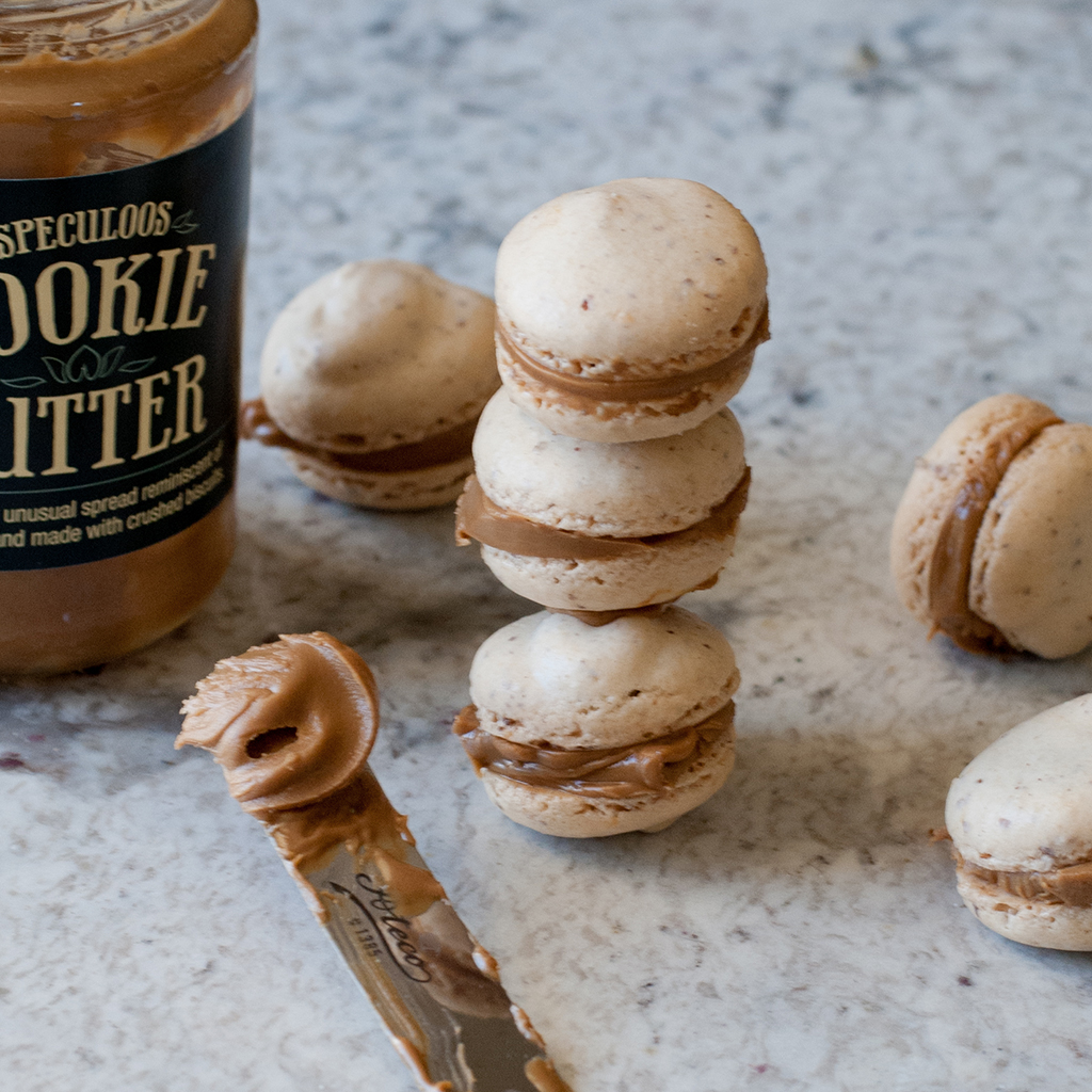cookie butter, cookie, butter, macarons