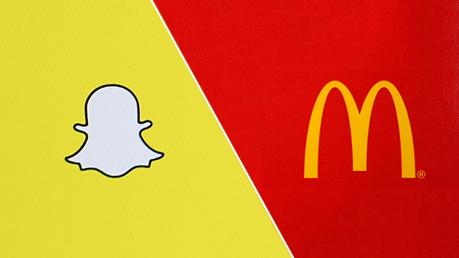 mcdonalds hires with snapchat