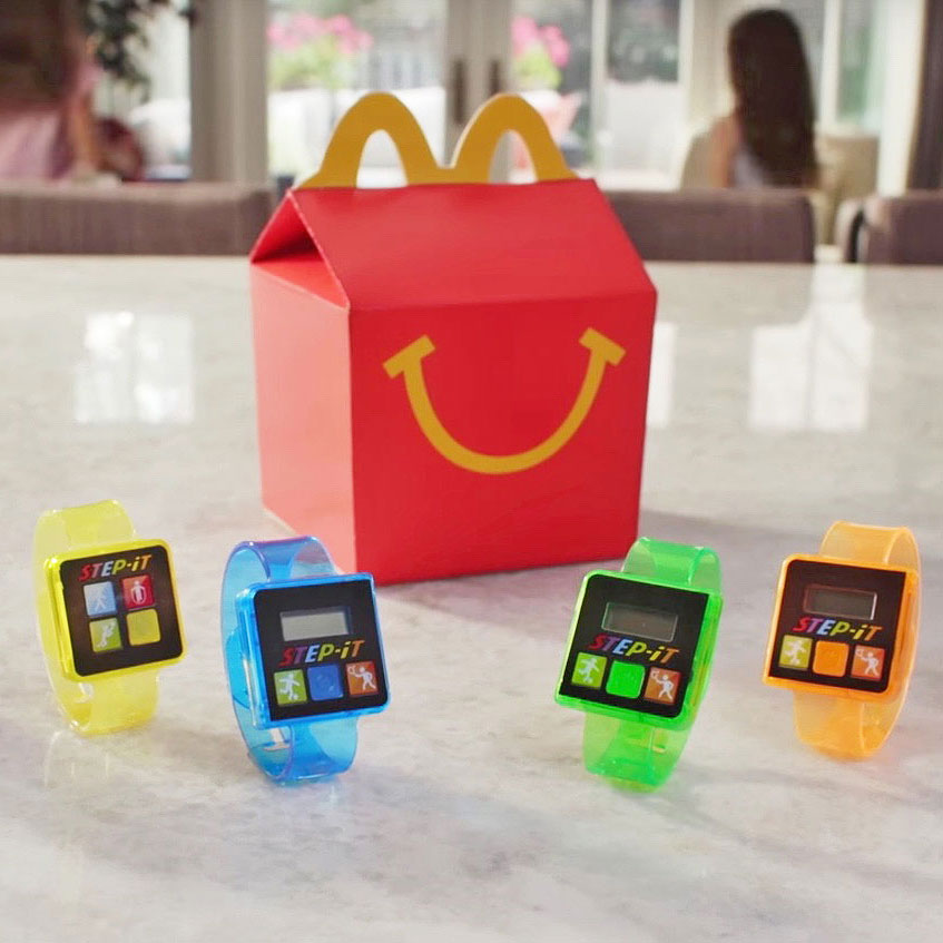 McDonald's, Step-it, activitty tracker, Happy Meal
