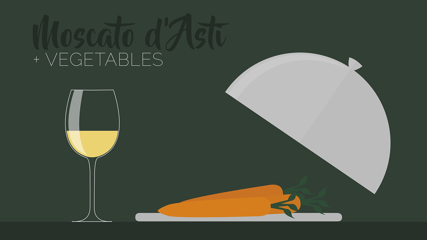 vegetables carrots and celery pair well with certain moscato wine