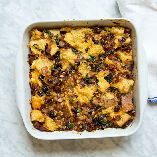 Andouille Sausage Bread Pudding