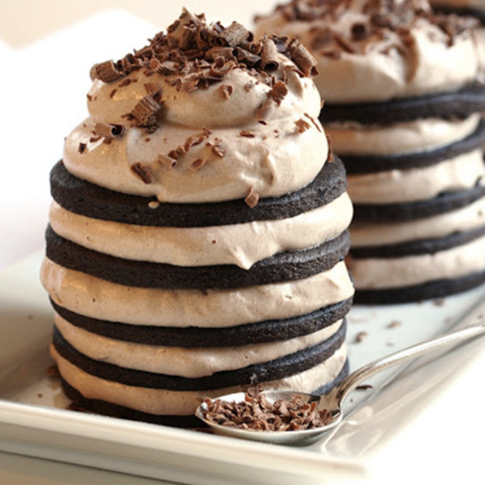 Chocolate Wafer Cookie Stack Cakes