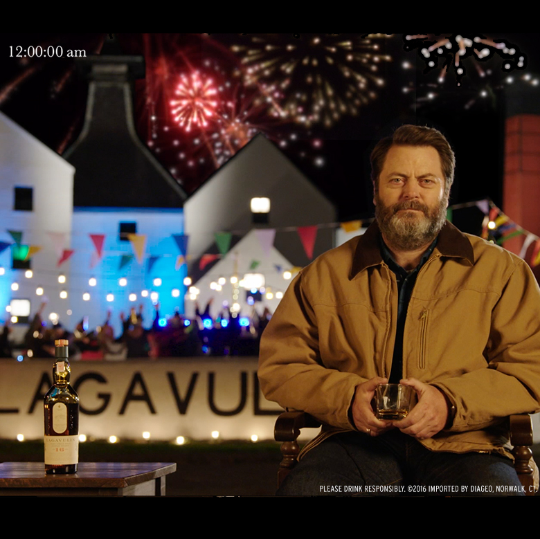 Nick Offerman's New Year's Eve party still