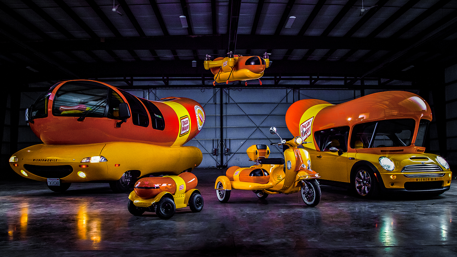 weinermobile drones and cycles