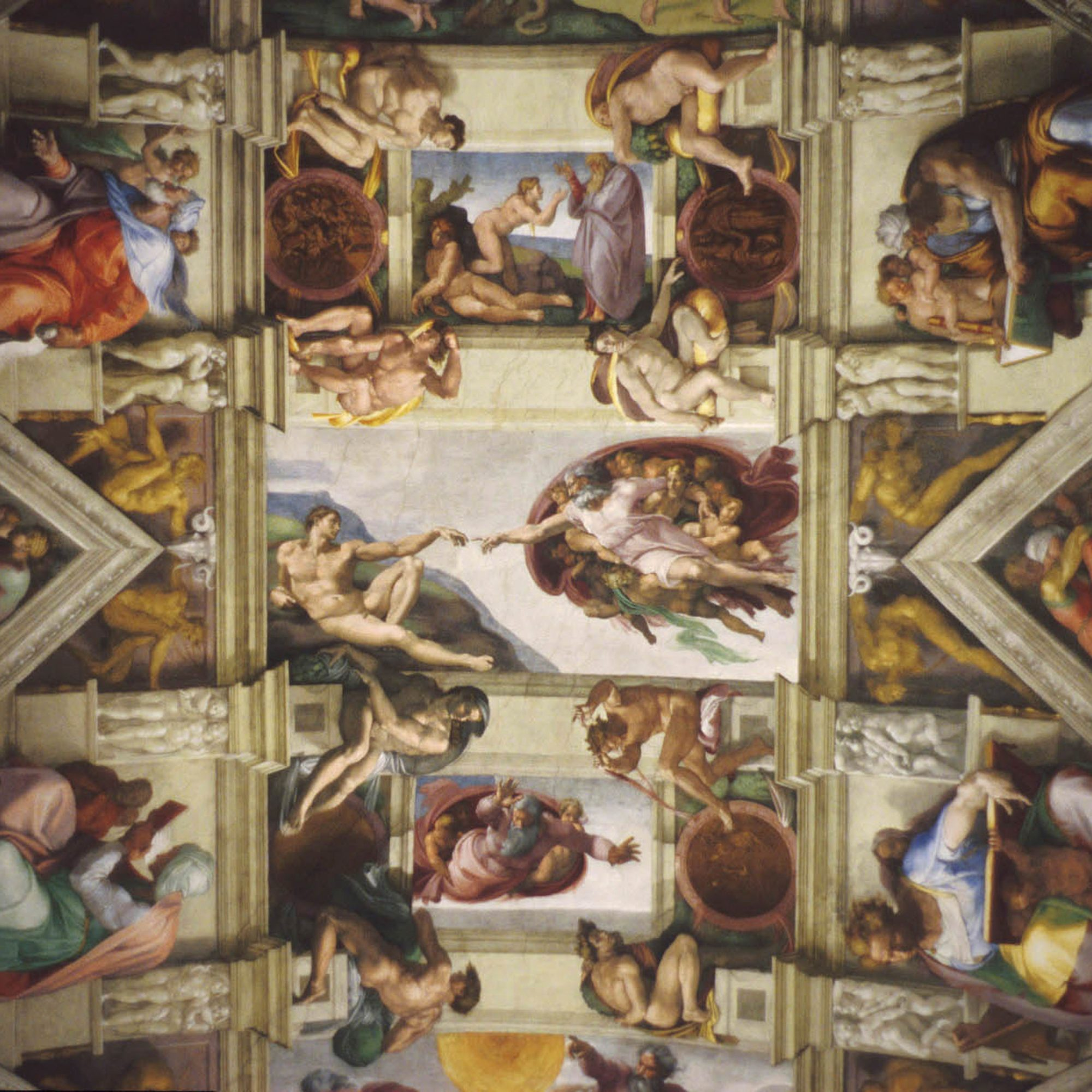 God rides a brain in the Sistine Chapel