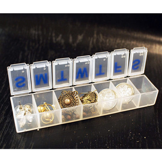 Sort Your Jewelry in a Pillbox