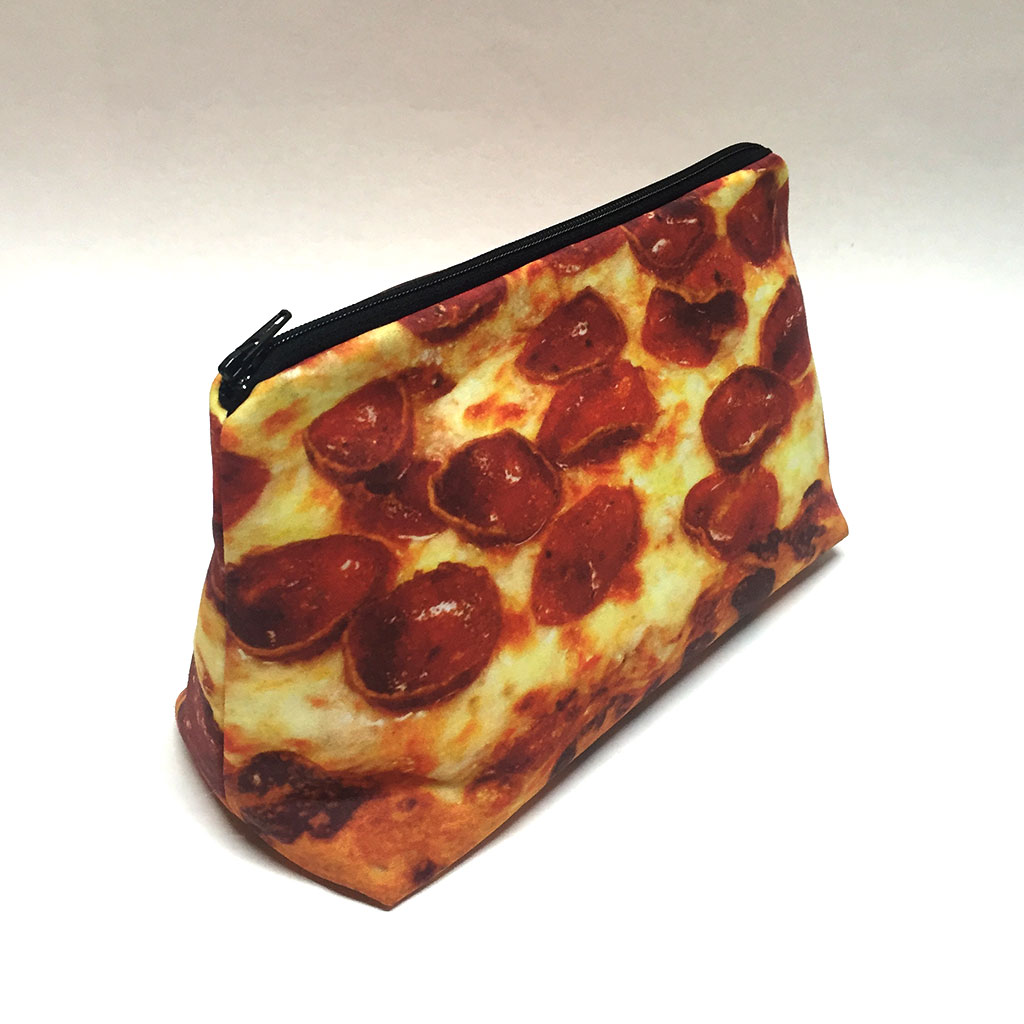 pizza, bag, food-themed, travel