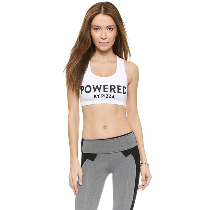 Powered by Pizza Sports Bra