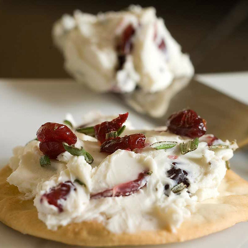 Rosemary and Cranberry Cream Cheese