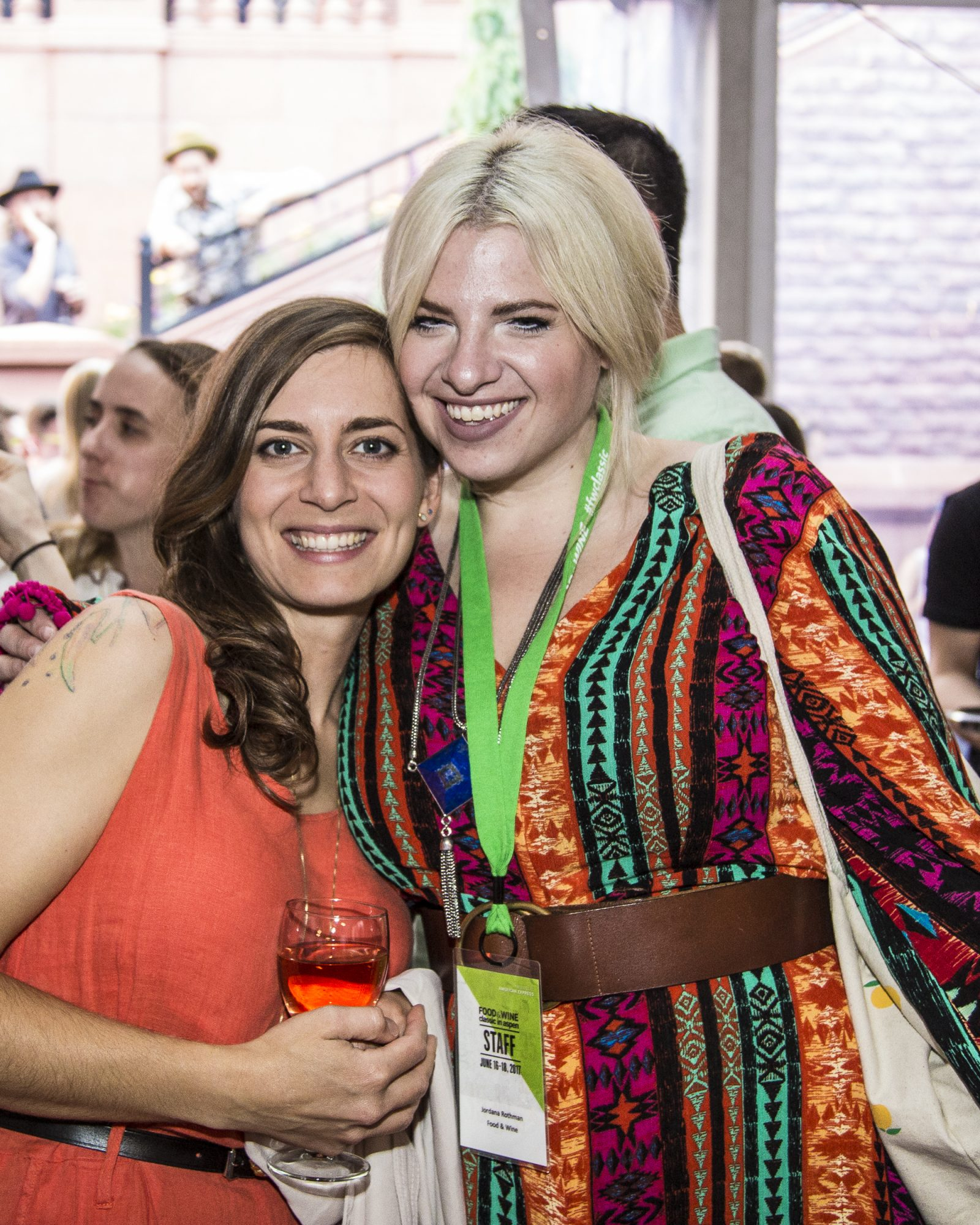Best New Chef 2017 Sara Kramer of Kismet and Restaurant Editor Jordana Rothman at the Food & Wine Classic in Aspen welcome reception