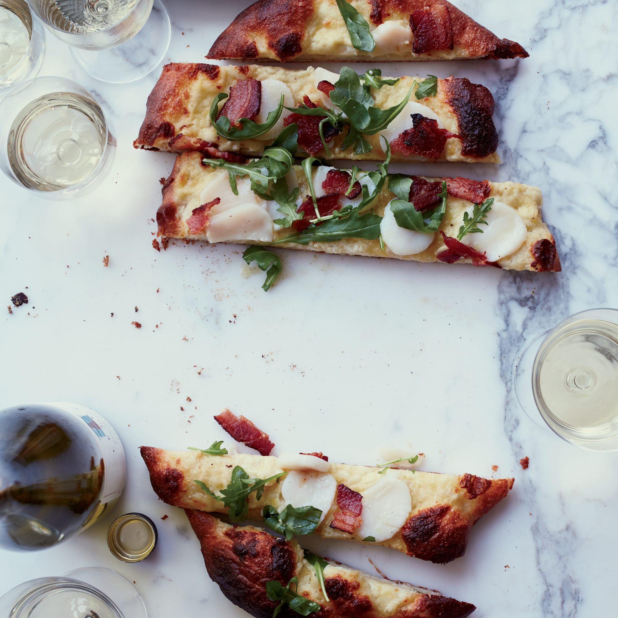 Scallop-and-Bacon Pizza