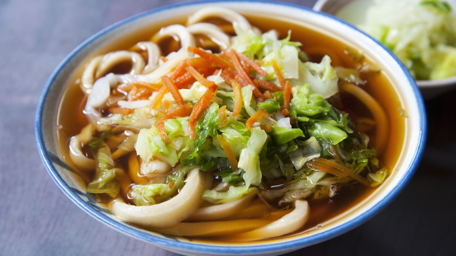 spicy udon from Mongolia vegan cookbook