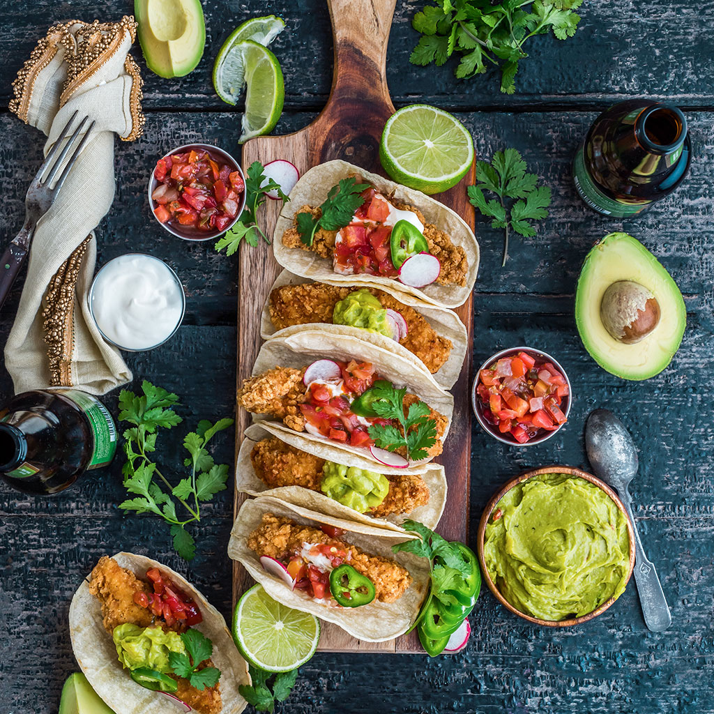 STACKED FRIED CHICKEN TACOS FWX