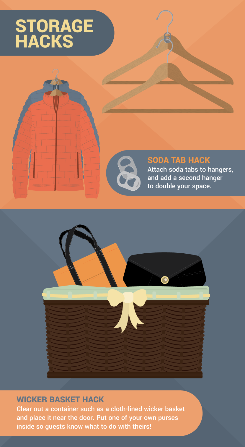 Storage Hacks For a Party