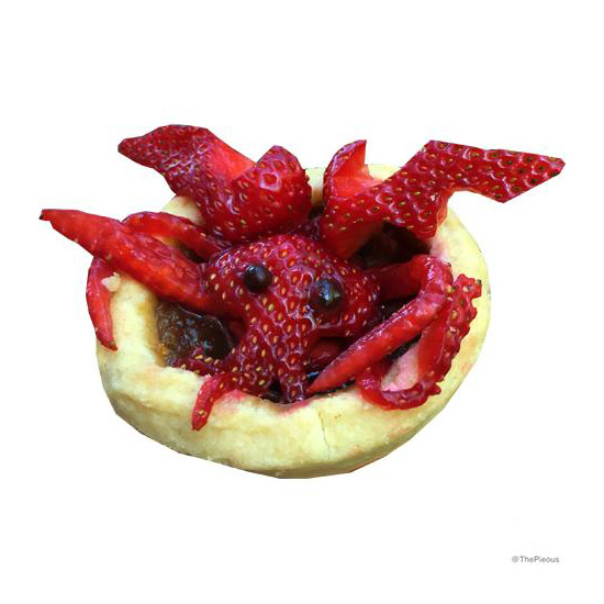 Strawberry C'thulhu Pie Toppers