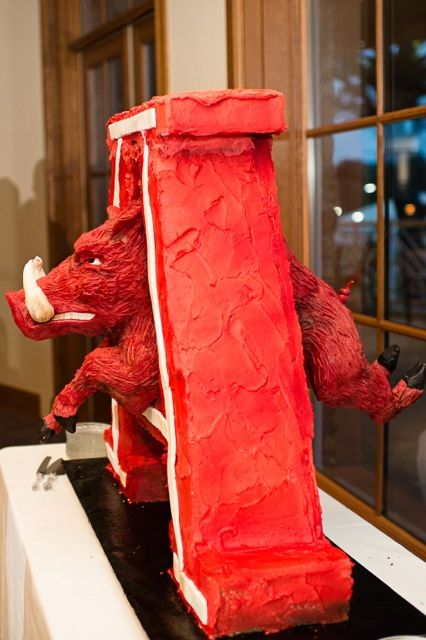 University of Arkansas Razorback Grooms Cake