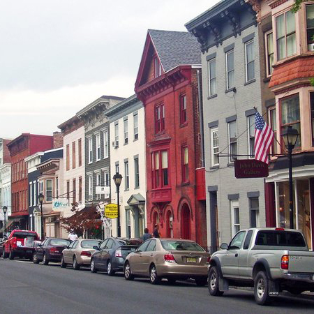 US small town hudson new york
