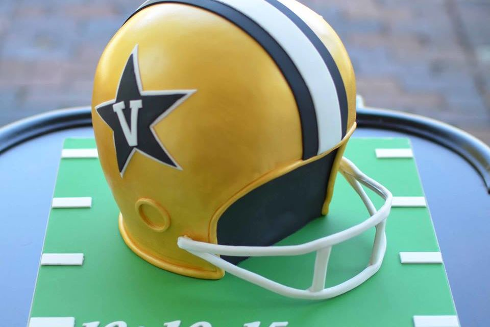 Vanderbilt University Football Helmet Grooms Cake