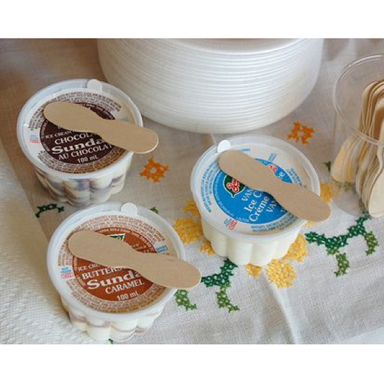 Those Wooden Spoon Ice Cream Cups
