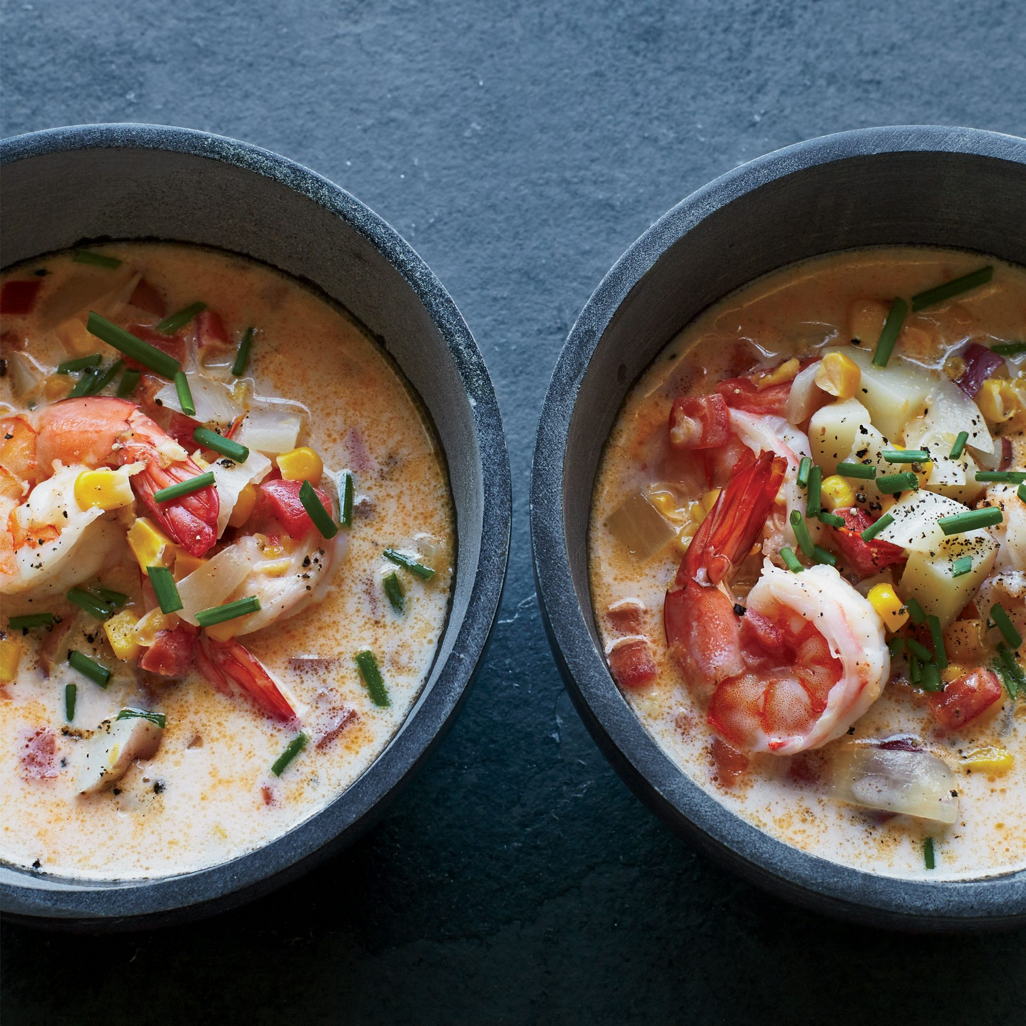 Creamy Shrimp Corn and Tomato Chowder