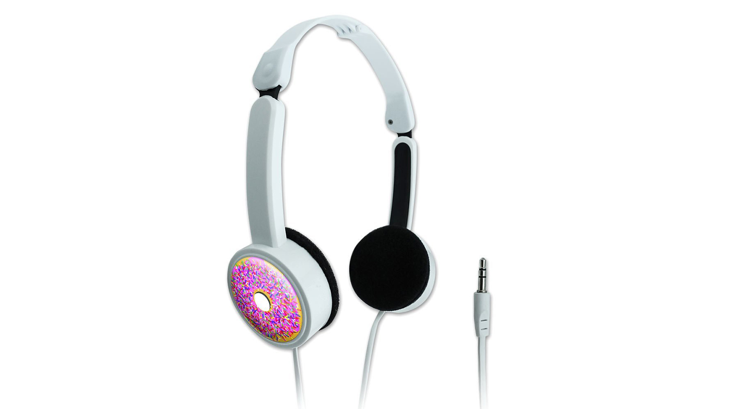 white doughnut headphones