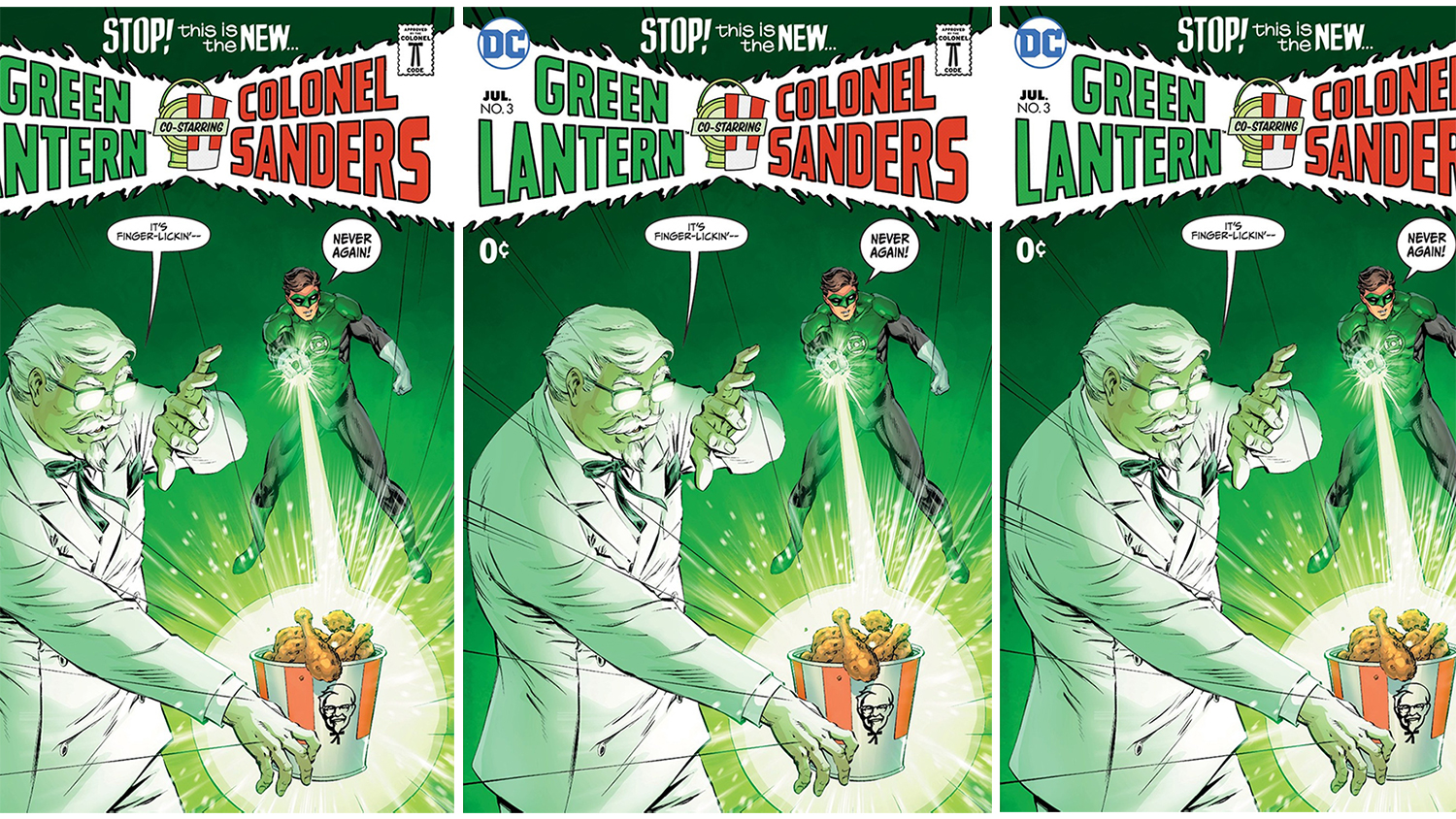 green lantern and kfc comics